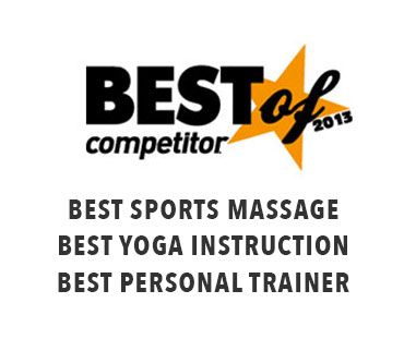 Marathon Physical Therapy awarded Best of competitor 2013: Best sports massage, best yoga instructor, best personal trainer.