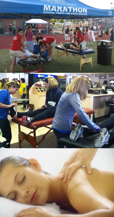 Marathon Physical Therapy massage sessions
