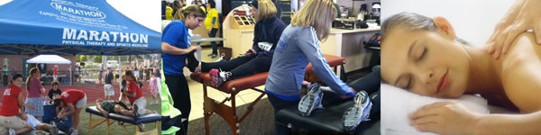 Marathon Physical Therapy offers a wide range massage types